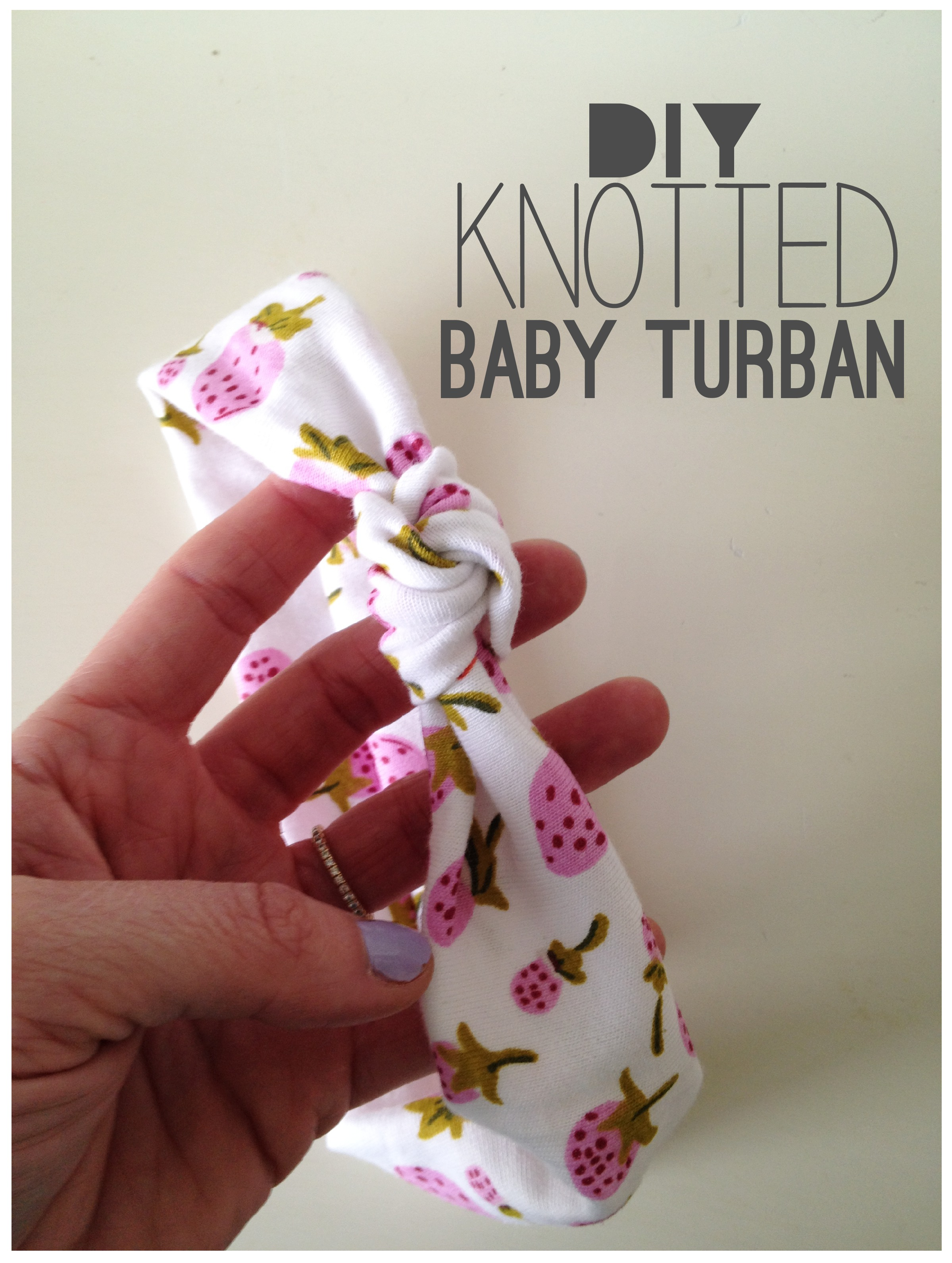 Knotted Baby Turban Tutorial | The Sara Project