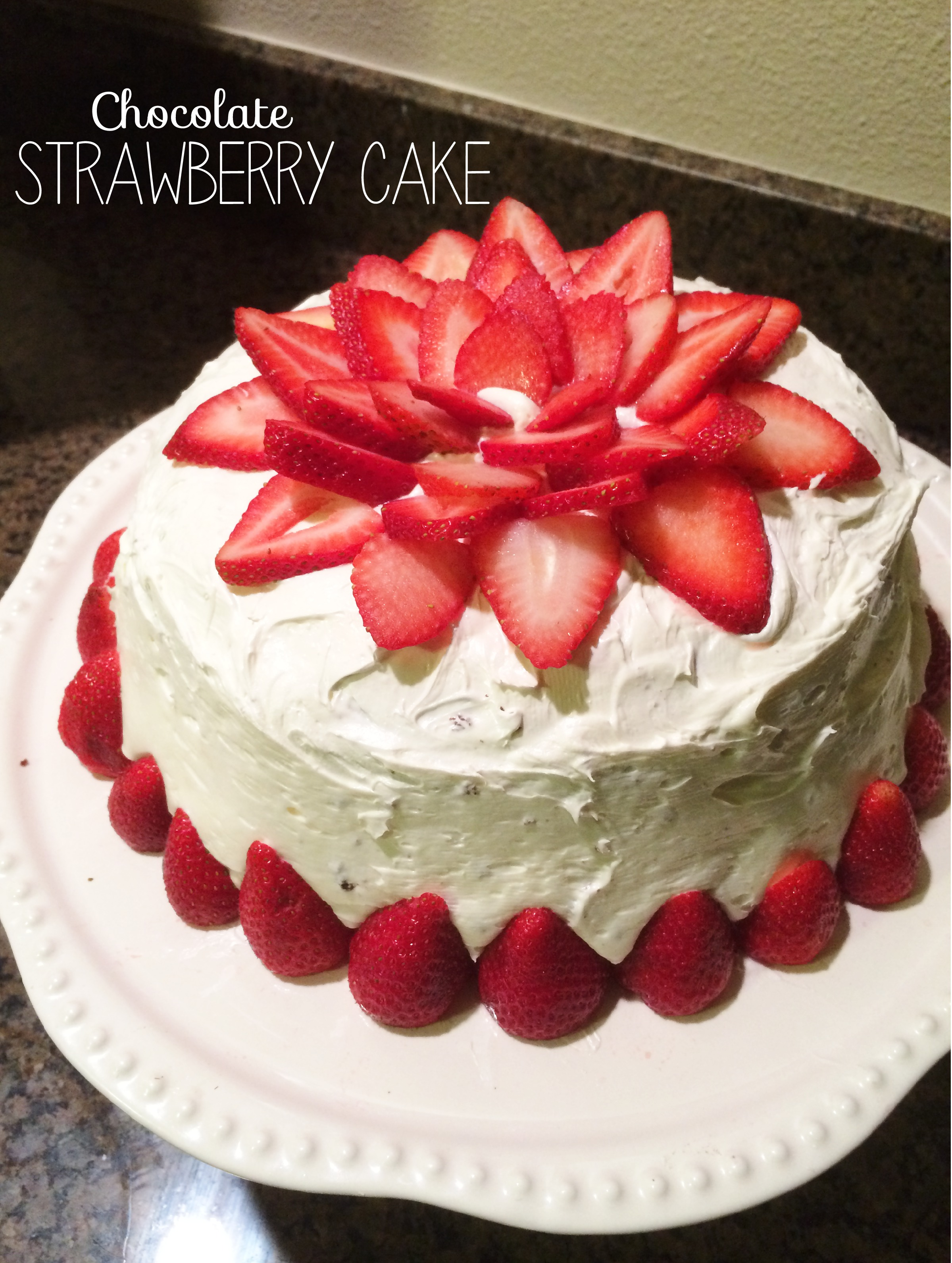 How Decorate Cake At Home : Chocolate Strawberry Cake The Sara Project