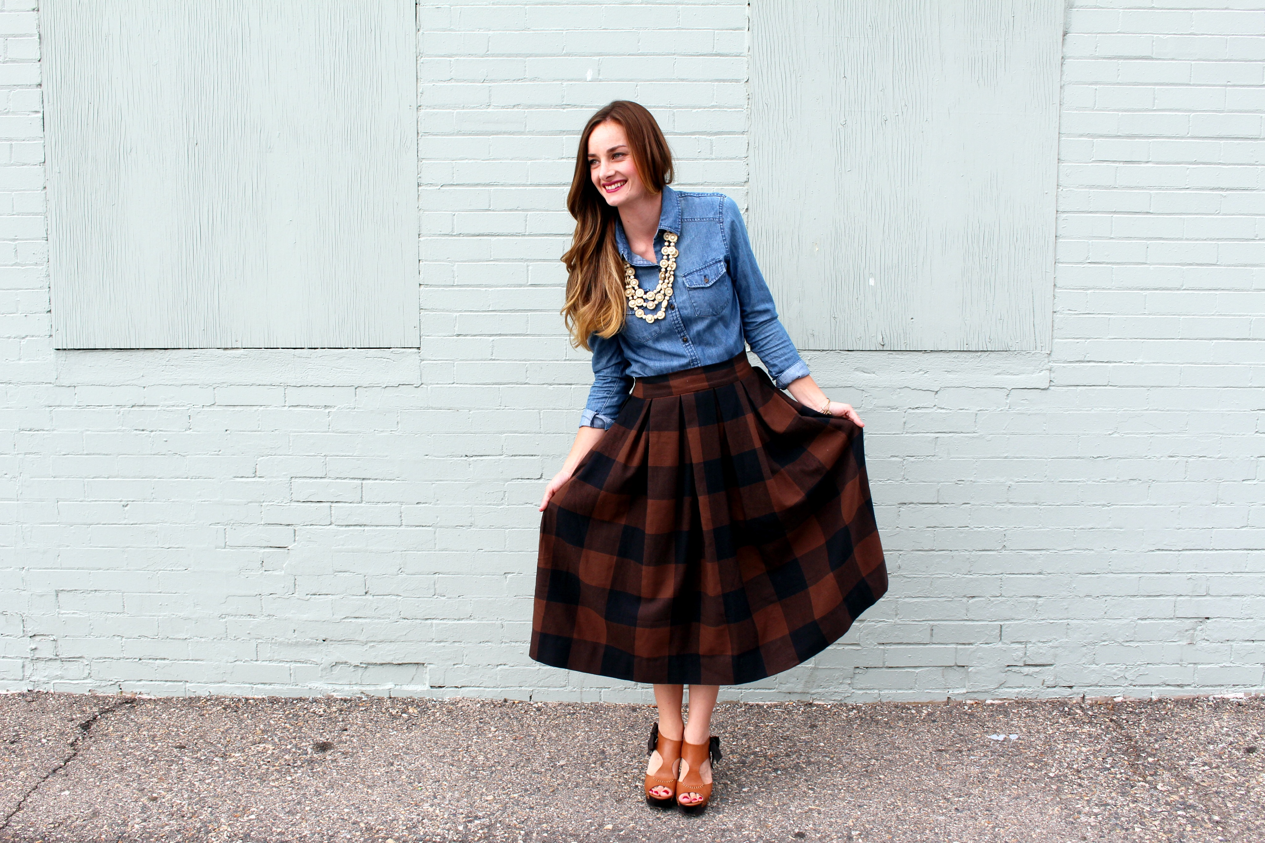 pleated skirt | The Sara Project