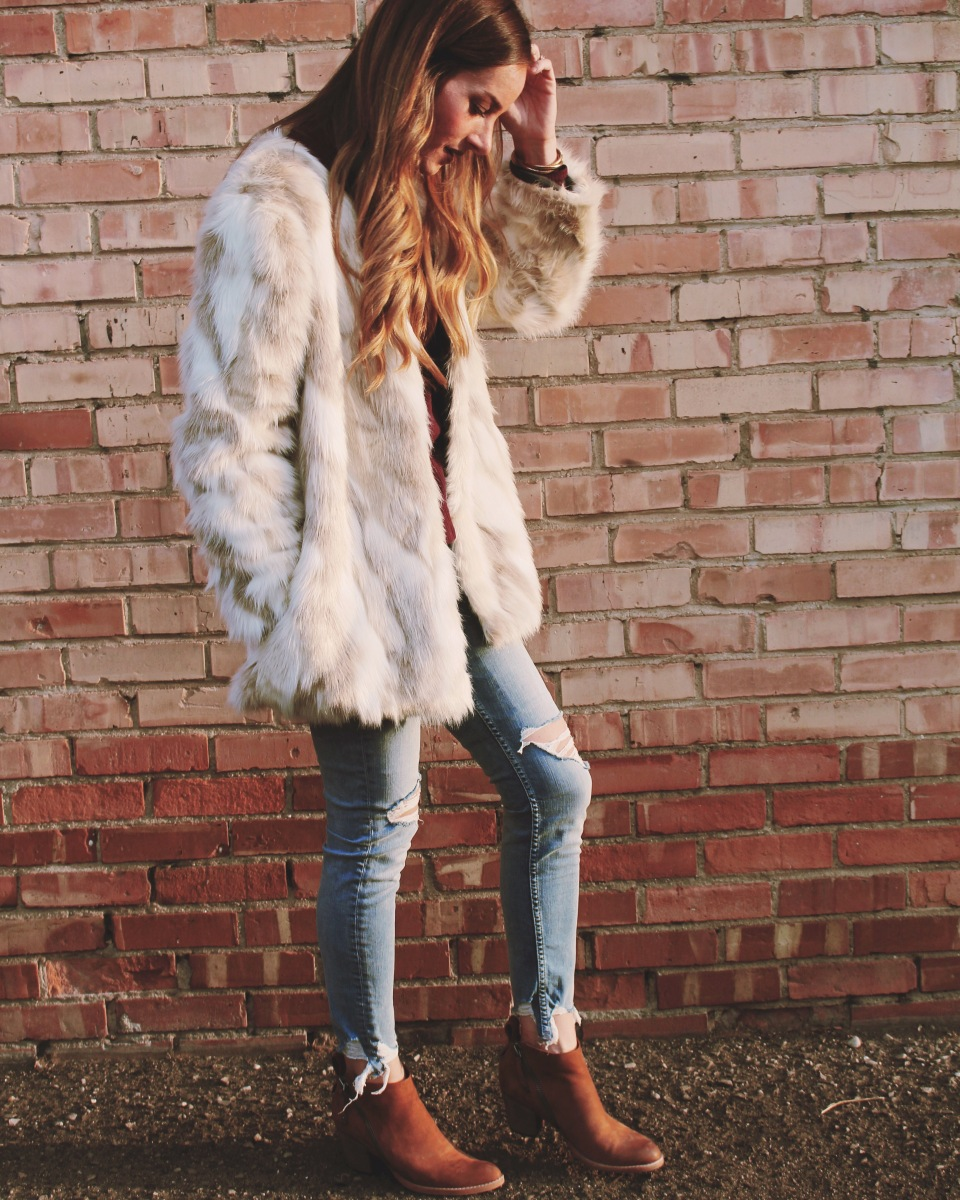 Faux Fur Coat with Fabric.com