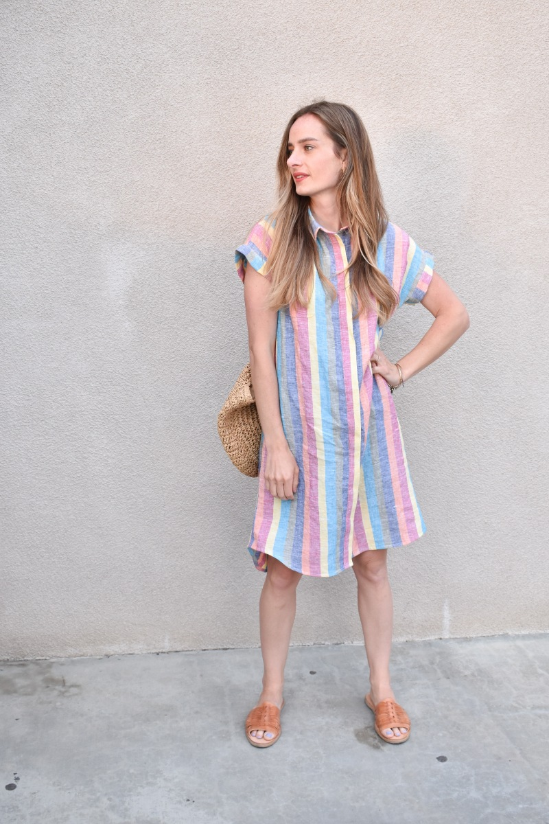 Taste the Rainbow Linen Kalle Dress with JOANN